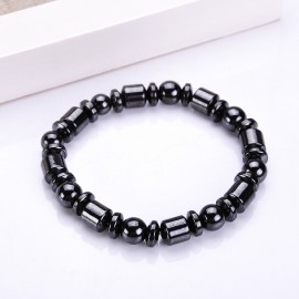 bracelet perles  hématites noires magnétiques