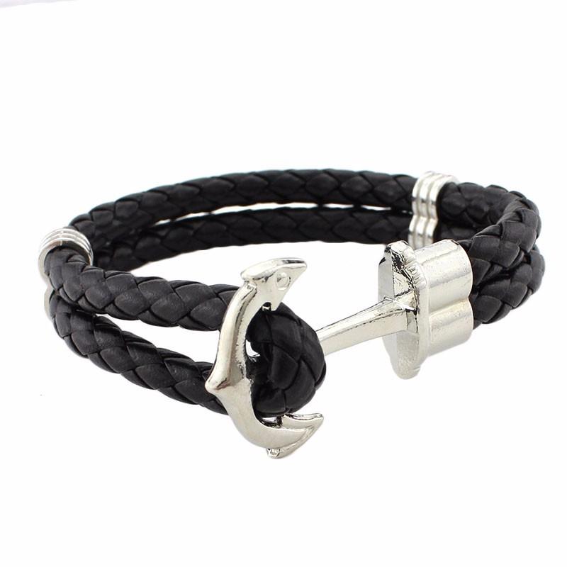nouveau concept 6026d d1bc6 bracelet ancre argentée - Bracelets Homme
