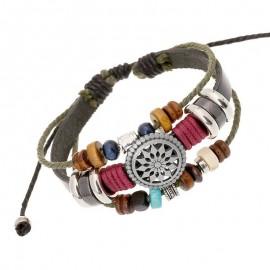 bracelet cuir et breloques
