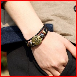 bracelet cuir signe zodiac BELIER