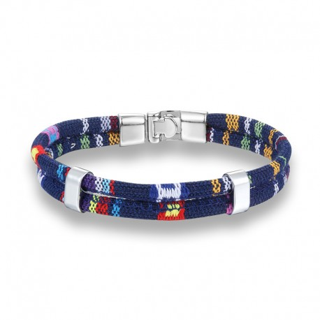 bracelet coton couleur bleu marine