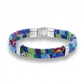 Bracelet homme  coton bleu foncé