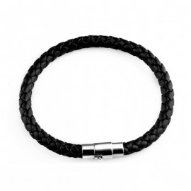 Simple bracelet en cuir noir, blanc ou marron