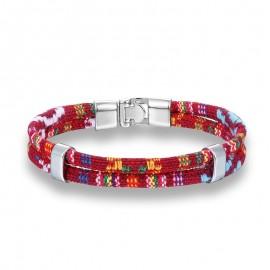 bracelet homme coton rouge