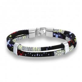 bracelet homme coton noir