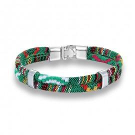 bracelet homme coton vert